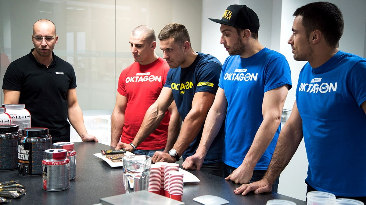 Oktagon MMA fighters in the NUTREND company