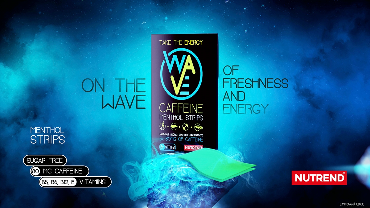 NEW PRODUCT - WAVE Menthol caffeine strips
