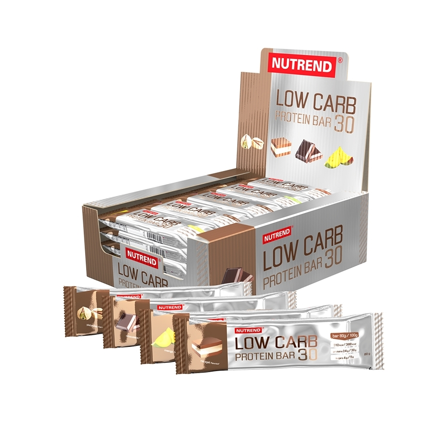 Low Carb Protein Bar 30 Nutrend Supplements